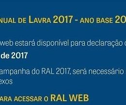 RAL - RELATÓRIO ANUAL DE LAVRA 2017/2016