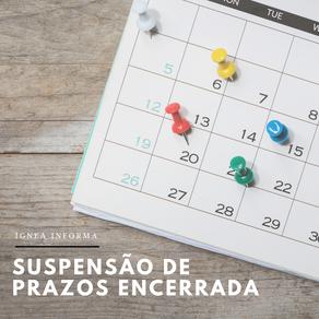 Termina hoje a suspensão de prazos da ANM
