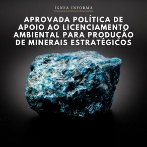 CPPI aprova política de apoio ao licenciamento ambiental para produção de minerais estratégicos