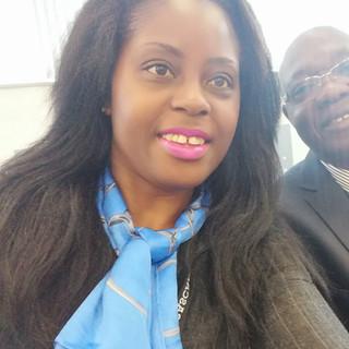 Le Dr.h.c Audrey POMIER FLOBINUS et Mr Akwasi OPONG FOSU -lobal meeting HORASIS 2019