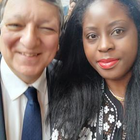 Le Dr.h.c Audrey POMIER FLOBINUS et Mr José Manuel BARROSO -lobal meeting HORASIS 2019