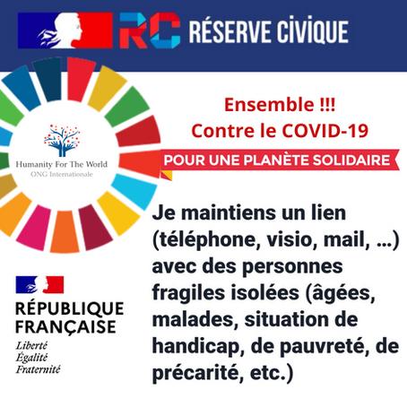 Humanity For The World, Réserve Civique de la République Française - en guerre Contre le COVID-19