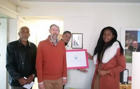 Humanity For The World (HFTW) reçue à l'ambassade de France en ISLANDE   – Islande  -  Reykjavik