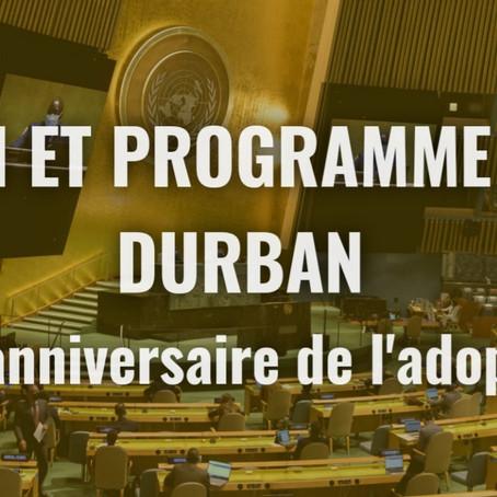 Humanity For The World (HFTW) accrédité pour la réunion de haut niveau de l'ONU - Durban declaration