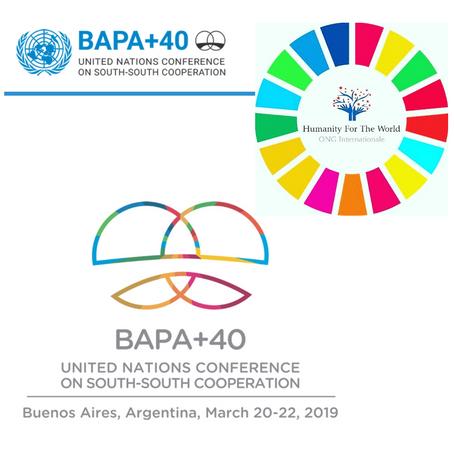 L'ONG française Humanity For The World (HFTW) accréditée par l'ONU pour la BA+40 - Argentine - 2019