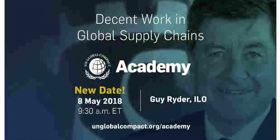 Academy session II : DECENT WORK IN GLOBAL SUPPLY CHAINS