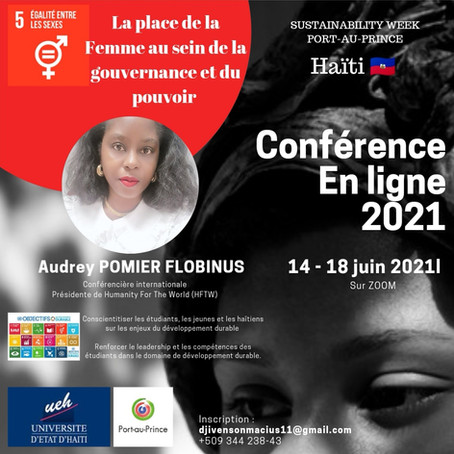 Humanity For The World (HFTW) démocratise l'ODD5 en Haïti - Sustainability Week Port-au-Prince -2021