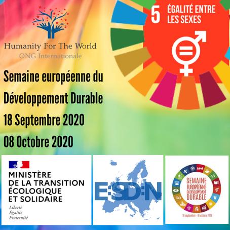 2020 : Une Semaine Européenne du Développement Durable placée sur le sceau de l'égalité des genres