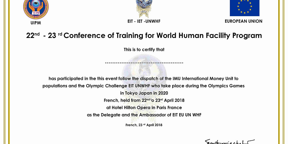 CONFERENCE OF TRAINING FOR WORLD HUMAN FACILITY PROGRAM (2)