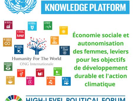 Économie sociale et autonomisation des femmes, leviers pour les objectifs de développement durable