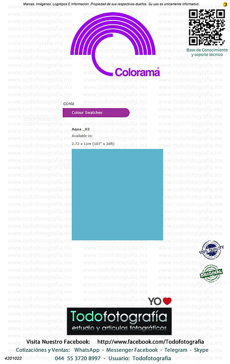 Colorama CO102 Aqua 2.72 x 11m (4201022)