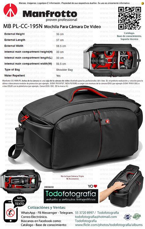 Manfrotto MB PL-CC-195N Maleta Para Cámara de Vídeo Pro Light (3600650)