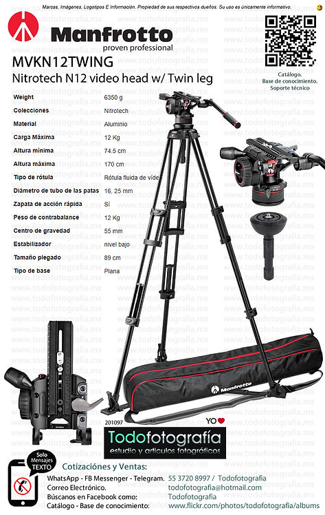Manfrotto MVKN12TWING Tripies Video (0201097)