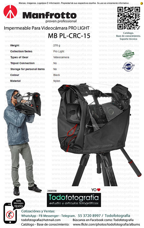 Manfrotto MB PL CRC 15 Impermeable Para videocamara PRO LIGTH (3900508)