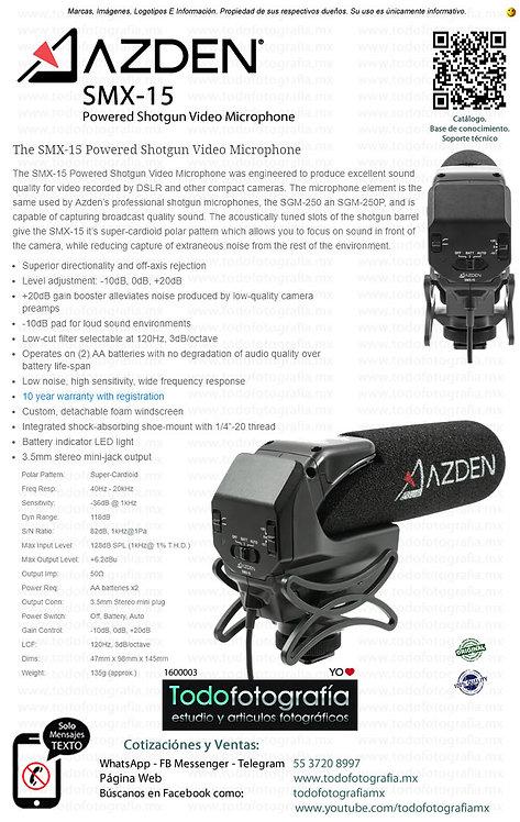 Azden SMX-15 - Microfono De Cañon Profesional (1600003)