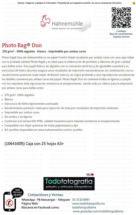 Hahnemuhle Photo Rag Duo - Presentaciones
