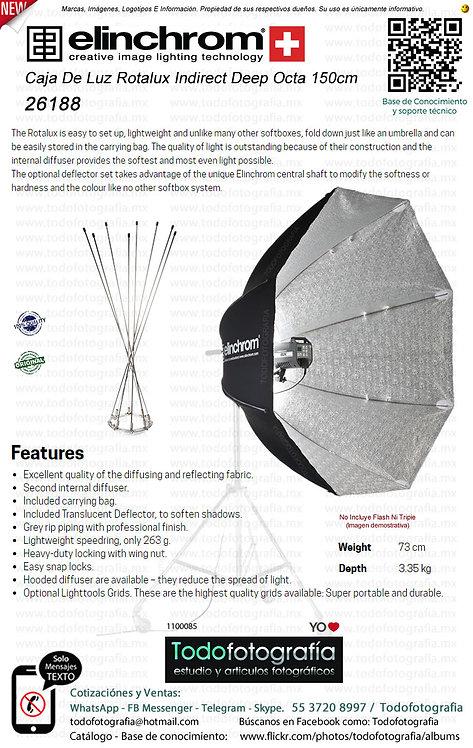 Elinchrom 26188 Caja De Luz Rotalux Indirect Deep Octa 150 cm (1100085)