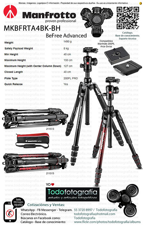 Manfrotto MKBFRTA4BK Befree Advanced (0211513 - 0211515)