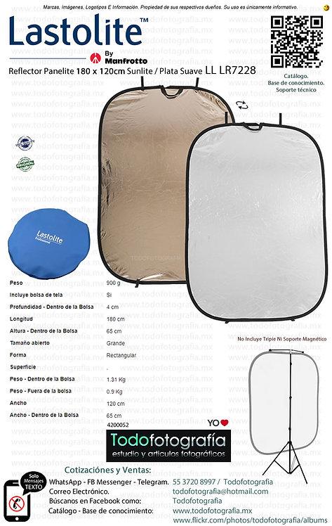 Lastolite LL LR7228 Reflector Panelite 180 x 120cm Sunlite Plata Suave (4200052)
