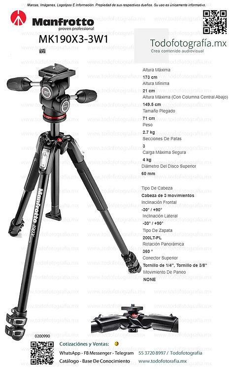 MK190X3-3W1 Manfrotto Tripie Fotografia (0200990)