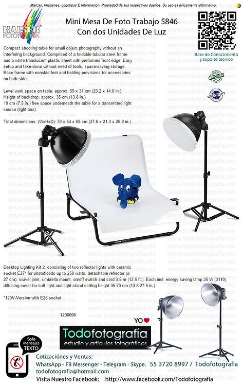 Kaiser Fototechnik 5846 Mini Mesa De Foto Trabajo Con Unidades de Luz (1200096)