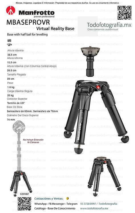 MBASEPROVR Manfrotto Pats De Tripie Realidad Virtual (0201087)