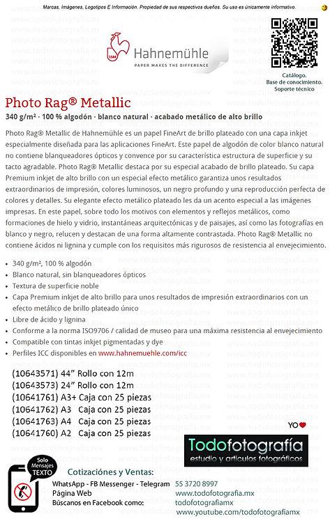 Hahnemuhle Photo Rag Metallic - Presentaciones