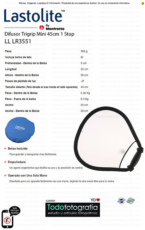 Lastolite LL LR3551 Difusor Trigrip Mini 45cm 1 Stop (4200005)