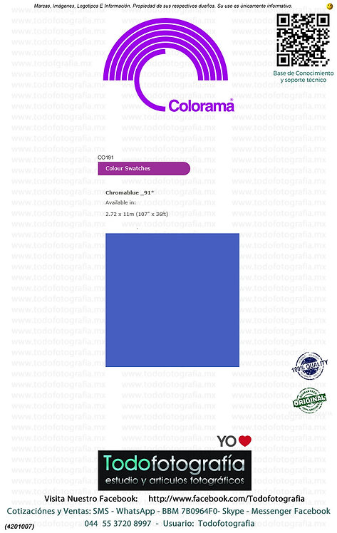 Colorama CO191 Azul Chroma 2.72 x 11m (4201007)