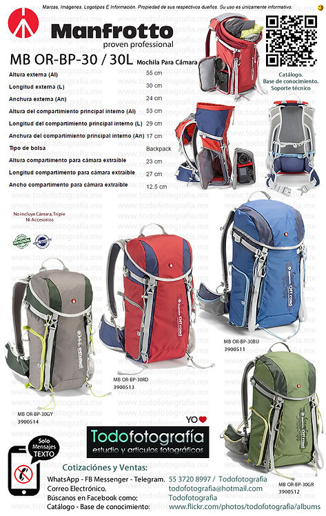 Manfrotto MB OR-BP-30 30L Off Road Hiker Mochila Fotográfica (3900511-12-13-14)