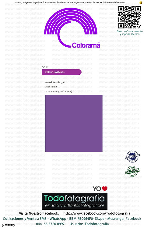 Colorama CO192 Purpura 2.72 x 11m (4201012)