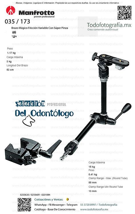 143 / 035 Manfrotto Soporte Para Unidad Dental (0250630 - 0250609 - 0201084)
