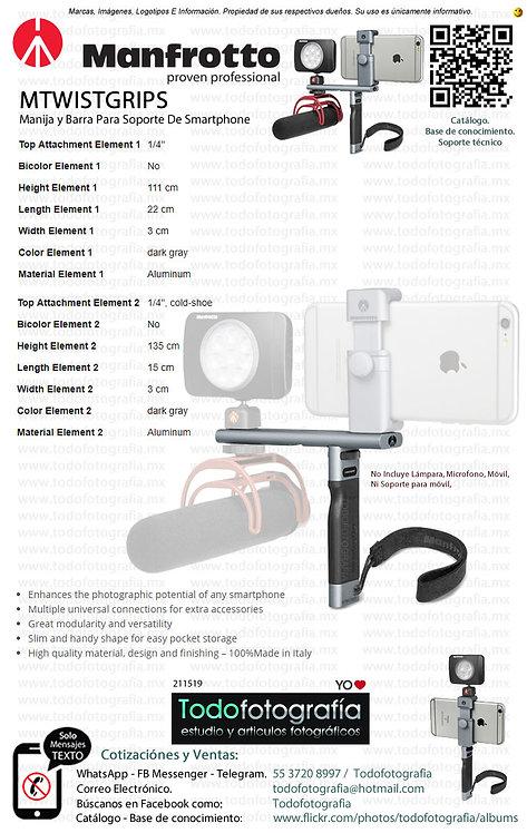 Manfrotto MTWISTGRIPS Manija y Barra Para Soporte De SmarthPhone (0211519)