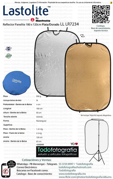 Lastolite LL LR7234 Reflector Panelite 180 x 120cm Plata-Dorado (4200049)