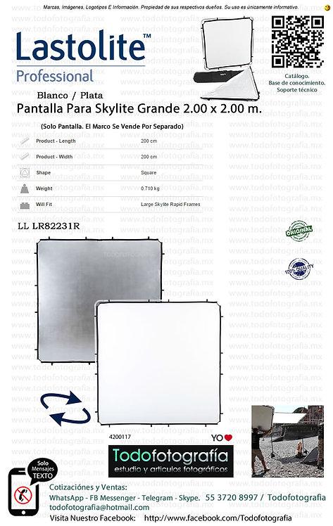 Lastolite  LL LR82231R Pantalla Blanco Plata Skylite 2.00 x 2.00 (4200117)