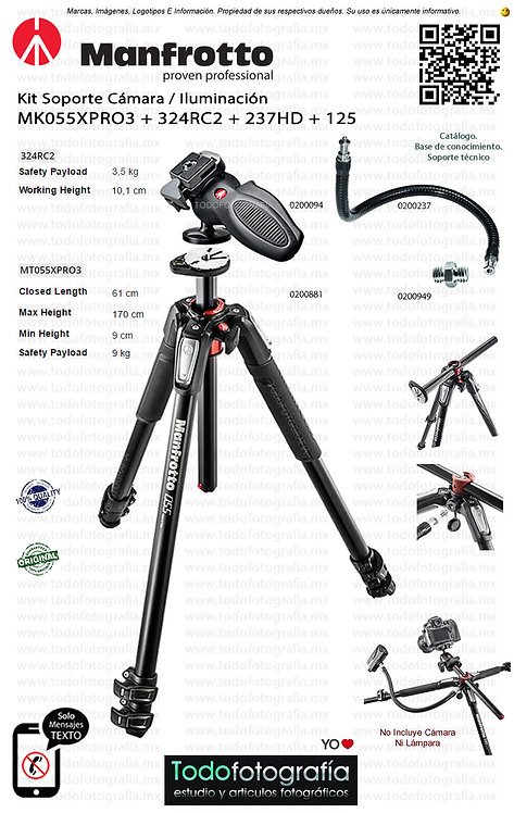 Manfrotto MK055XPRO3 324RC2 234RC 125 (0200881 - 0200094 - 00200237 - 0200949)