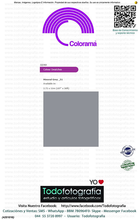 Colorama CO151 Gris Mineral 2.72 x 11m (4201016)