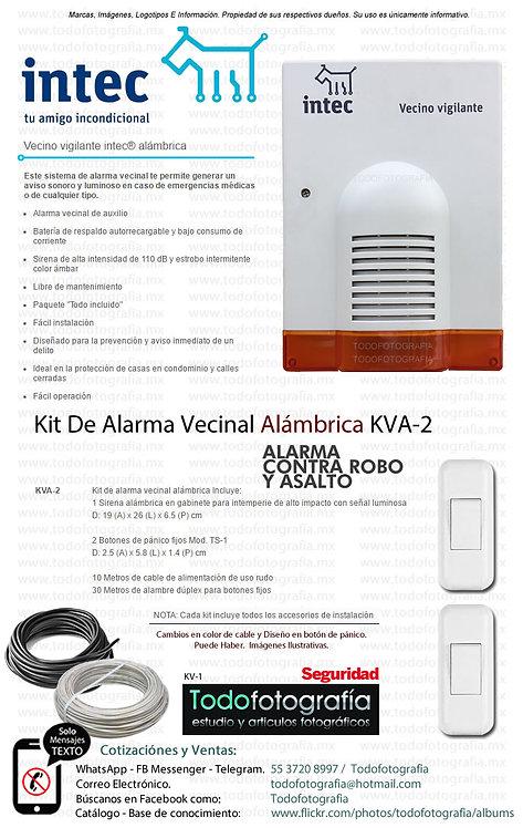 Intec KVA-2 Kit De Alarma Vecinal Alámbrica