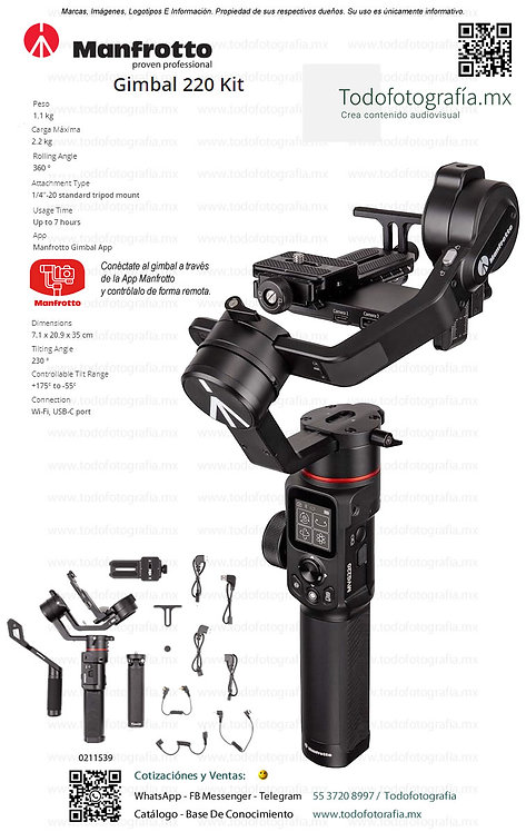 MVG220 Gimbal 220 KIT - Manfrotto 0211539