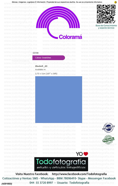Colorama CO109 BlueBell 2.72 x 11m (4201003)