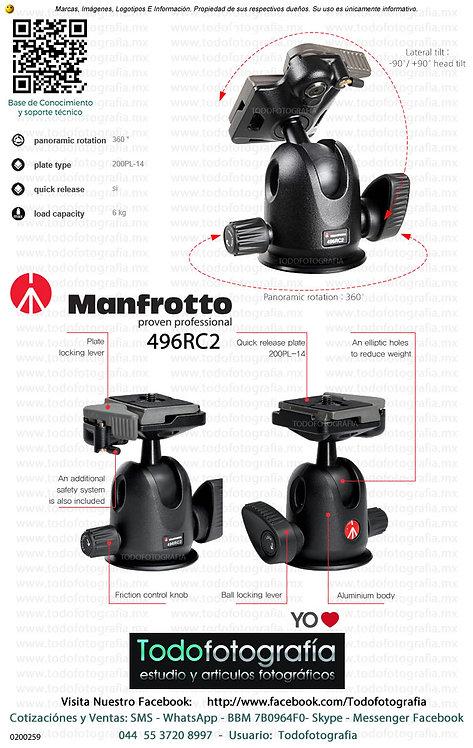 Manfrotto 496RC2 Cabezal Fotográfico (0200259)