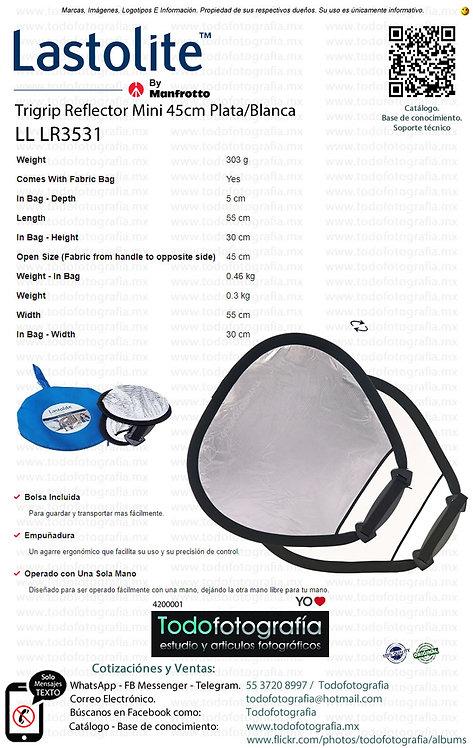 Lastolite LL LR3531 Trigrip Reflector Mini 45cm Plata-Blanca (4200001)