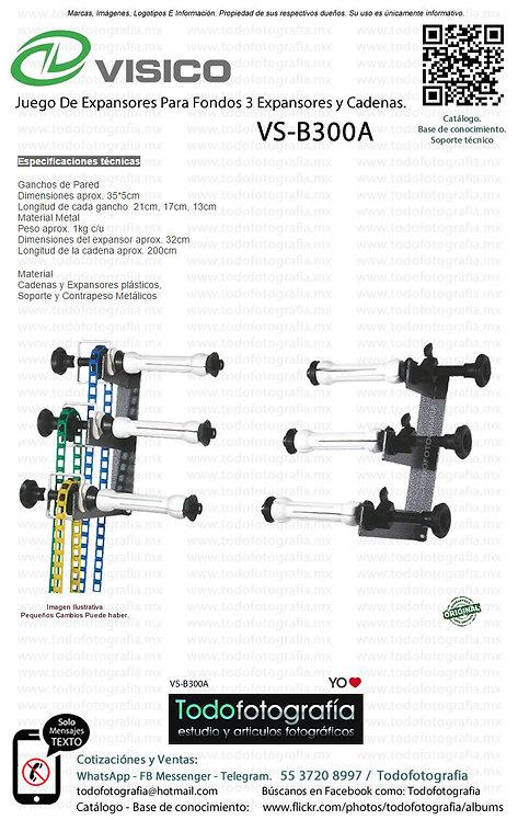 Visico VS-B300A Porta Ciclorama Para Fondos 3 Expansores y Cadenas (VS-B300A)