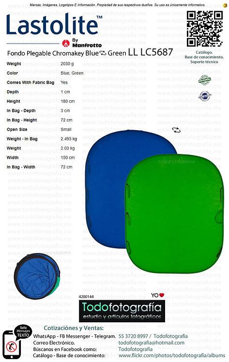 Lastolite LL LC5687 Fondo Plegable Chromakey Blue Green 1.5 x 1.8 (4200144)
