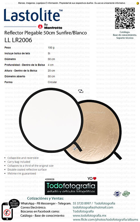 Lastolite LL LR2006 Reflector Plegable 50cm Sunfire Blanco (4200028)