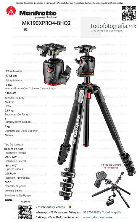 MK190XPRO4-BHQ2 Manfrotto Tripie Fotografia (0200975)