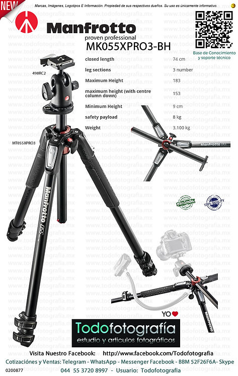 Manfrotto MK055XPRO3 BH (0200877)