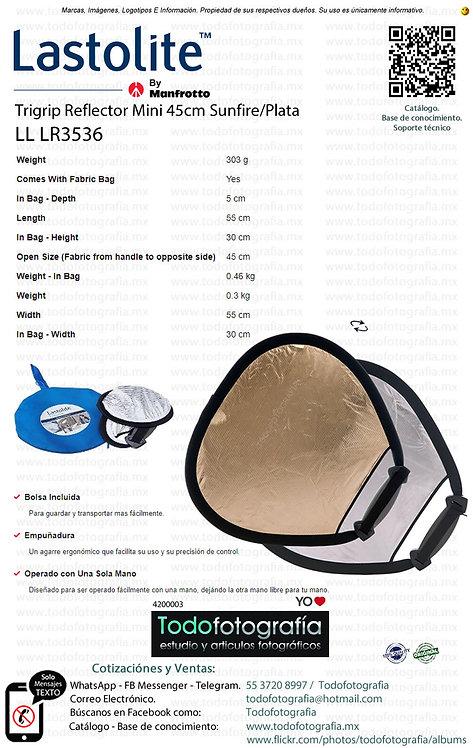 Lastolite LL LR3536 Trigrip Reflector Mini 45cm Sunfire-Plata (4200003)