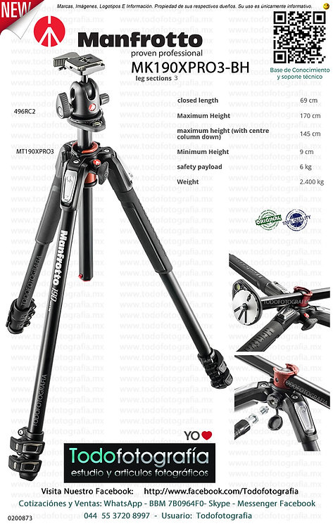 Manfrotto MK190XPRO3-BH (0200873)