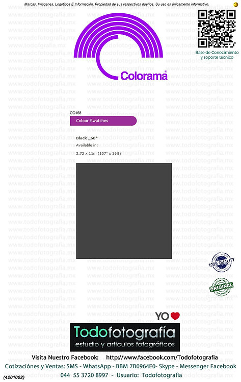 Colorama CO168 Negro 2.72 x 11m (4201002)